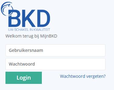 DKL login scherm